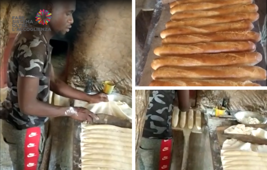 Youssouf prepara il pane