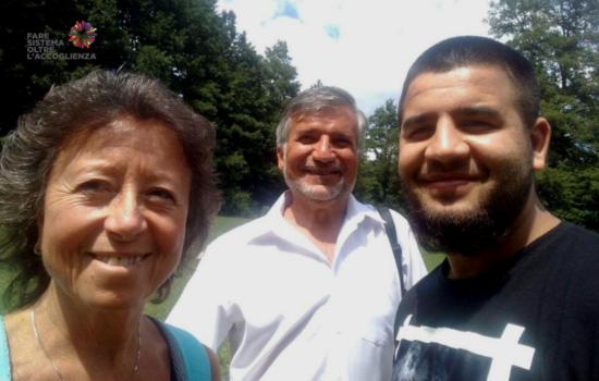 La famiglia Freda con Adrian