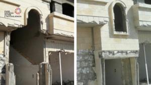 La casa distrutta di Abdallah in Siria